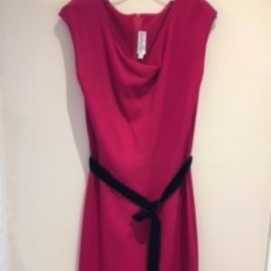 St John Collection Size 12 Knit Sheath with Belt